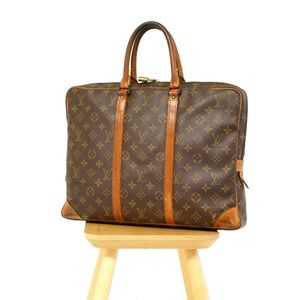 LOUIS VUITTON Monogram Porte Documents Voyage Bag